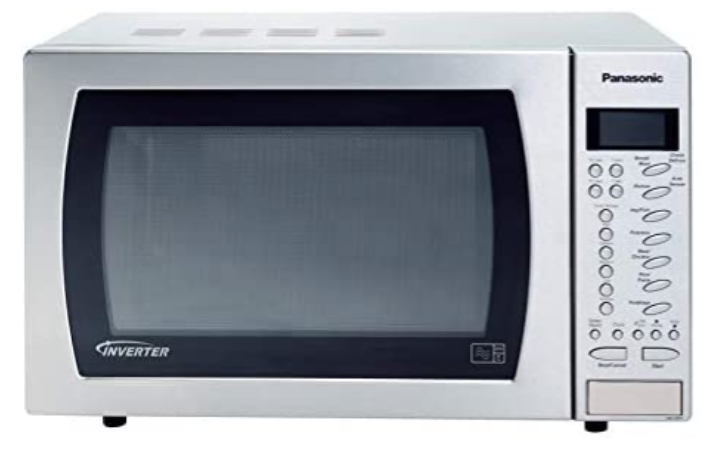 Panasonic microwave with auto sensor monitors steam from the microwave. Source: Amazon