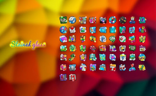 Stained Glass launcher theme