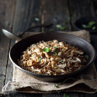 Farro with Mushrooms and Marjoram