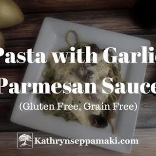 Zucchini Pasta with Garlic Parmesan Sauce Recipe