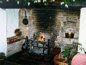 Photo: A hearth in an old English cottage, possibly early 17th c.