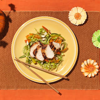 Grilled Chicken Teriyaki With Udon Noodle Salad.