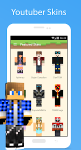 Skins For Minecraft Android Appictedme - Skins para minecraft youtubers