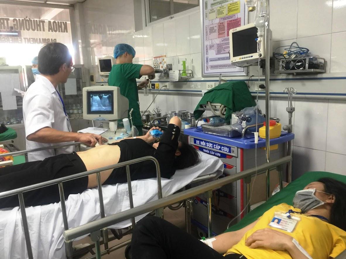 Các nạn nhân tại bệnh viên