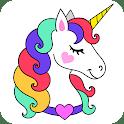 Magic Unicorn Coloring Book 🦄❤️ icon