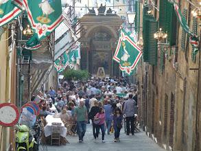 Photo: crowds are gathering for Oca Contrada festival