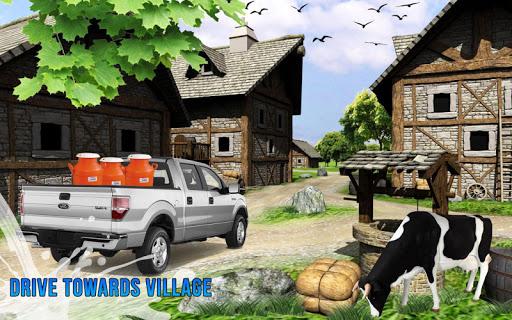 lait van delivery 3D - camion de transport laitier  captures d'écran 2