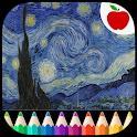 Adult Coloring Book Van Gogh icon
