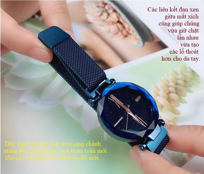 Đồng hồ nữ dây lụa nam châm