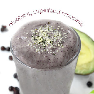 Blueberry Superfood Smoothie.