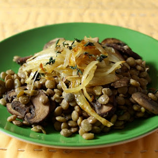 Lentil Stir-Fry with Mushrooms and Caramelized Onions