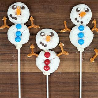 Snowmen Donut Sticks