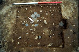 Photo: Magheramenagh, Portrush, 1999. Neolithic pottery spread.