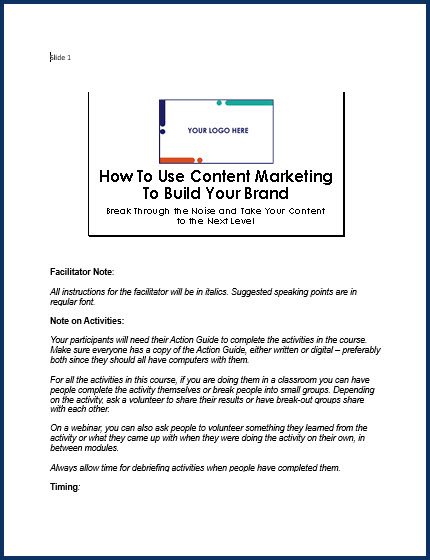 How to Use Content Marketing to Build Your Brand - SpeakerNotes
