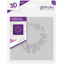 Crafters Companion Gemini 6x6 3D Embossing Folder - Poinsettia Wreath
