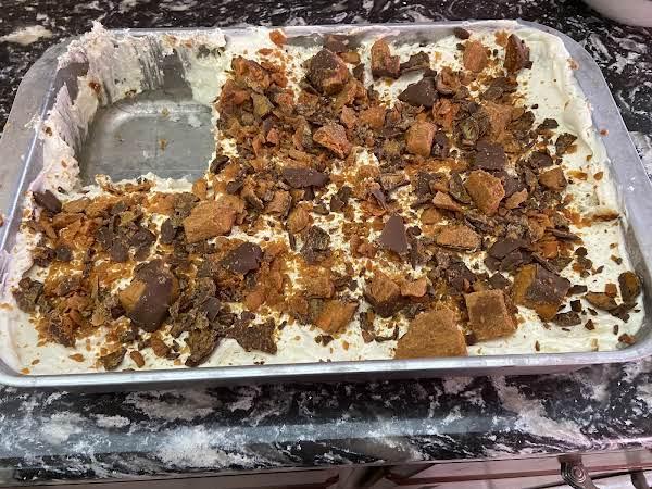 Butterfinger Pudding Minus A Big Piece!