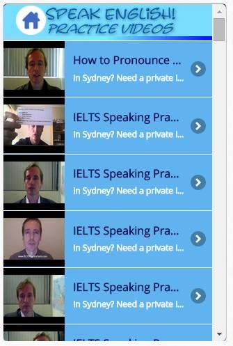 Speak English! Practice Videos- screenshot