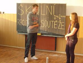 Photo: Školní kolo recitační soutěže - Filip a Tereza z 3. A.