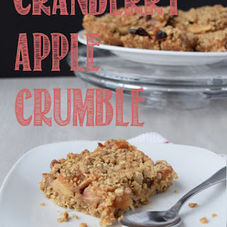 Cranberry Apple Crumble Bars