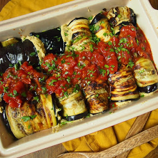 Eggplant Involtini with Vegan Ricotta