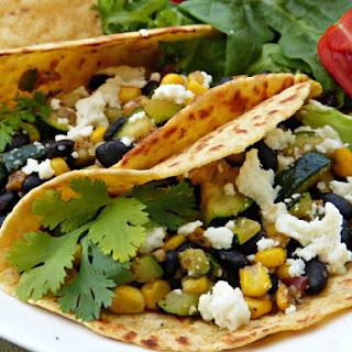 Summer Suppers – Black Bean, Zucchini & Corn Taco