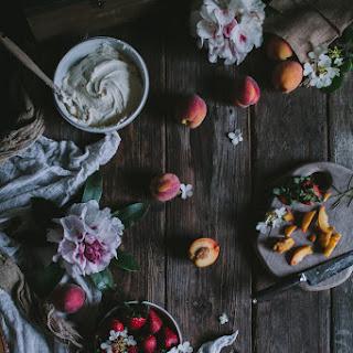 Strawberry, Thyme, & Peach Buttermilk Cake