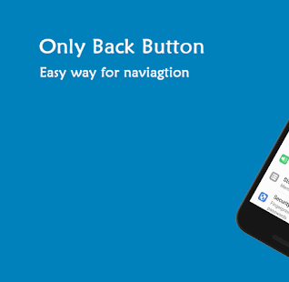 Only Back Button - Single touch back button Screenshot