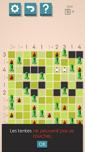 Des Tentes et des Arbres Puzzles captures d'u00e9cran 2