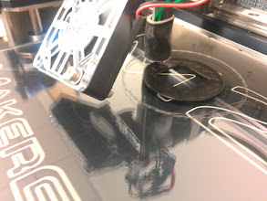 Photo: Printing a 49mm filter, just to test threading.