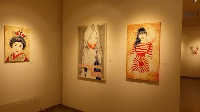 Photo: Galerie 30Works; Sushi Connection; Solo Show MITTENIMWALD; Geisha Airi II & Kanon II & Misaki