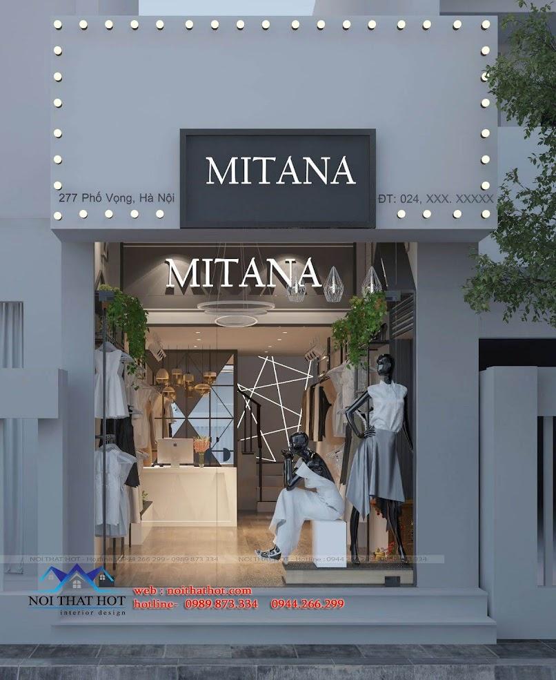 thiết kế shop thời trang nữ mitana 1