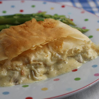 Phyllo Chicken Mustard Roll.