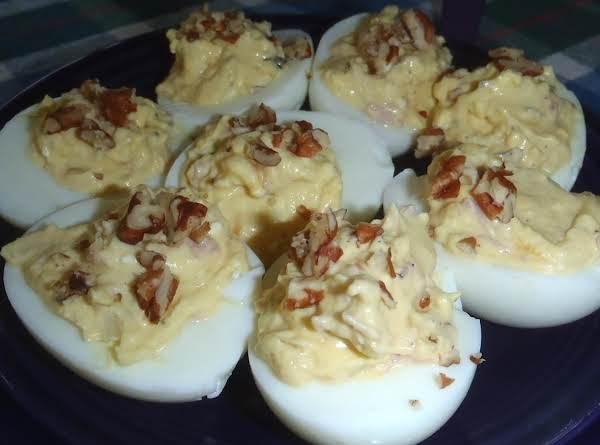 Georgia Peach Deviled Eggs