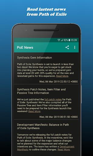 PoE News & Builds 1.22 screenshots 1