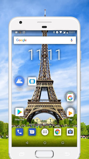 Transparent Phone Screen HD Simulation - screenshot