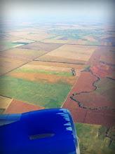 Photo: Aerosvit Airlines.  Ukraine looks like Kansas.