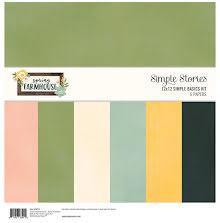 Simple Stories Basics Double-Sided Paper Pack 12X12 6/Pkg - Spring FarmhouseUTGÅ