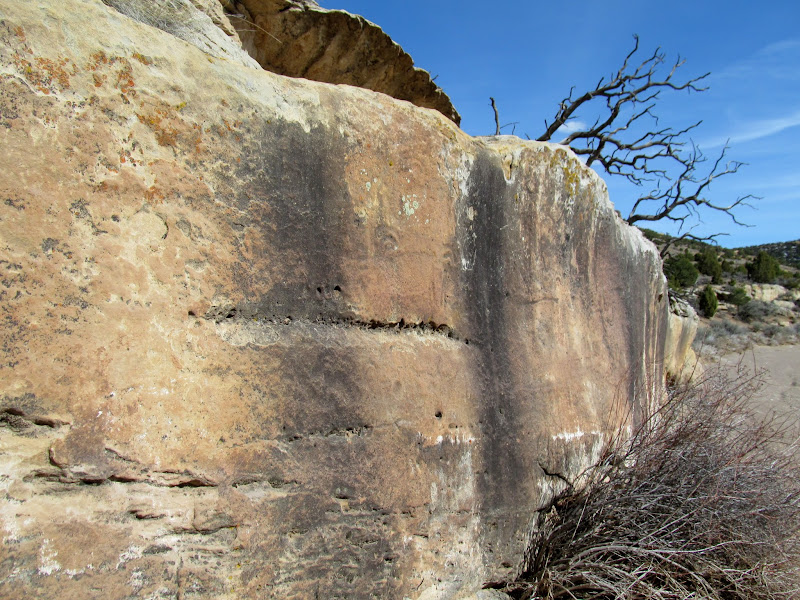 Photo: Another view of the petroglyph panel