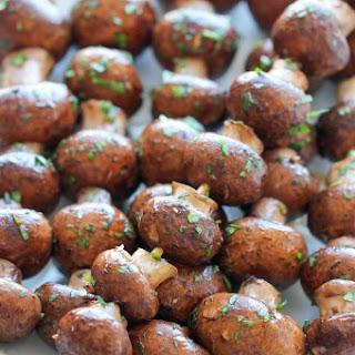 Garlic Mushroom Kabobs.