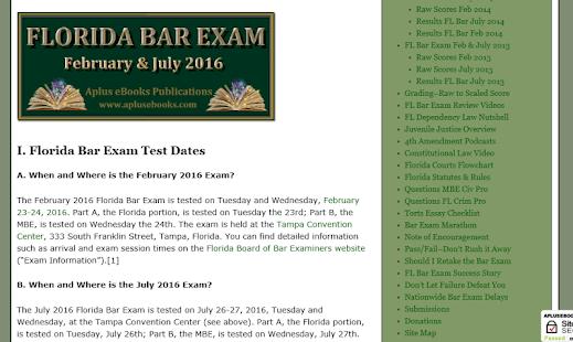 florida bar examiners essays