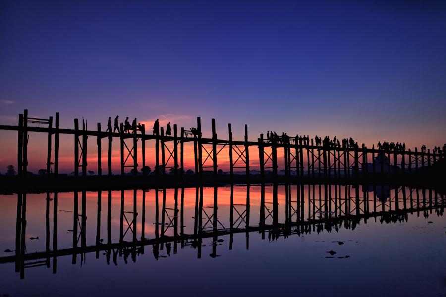 U Bein Bridge in Amarapura by Joseph Wong - Landscapes Travel ( travel, landscape )