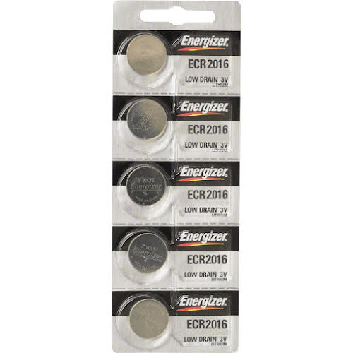 Energizer CR2016 Lithium Battery Card of 5