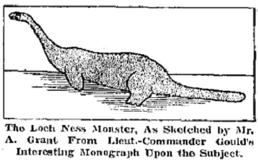 Sea creatures: loch ness monster
