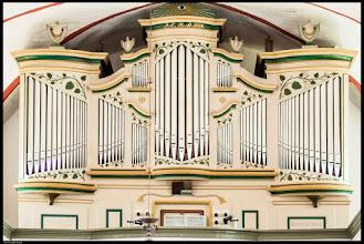 Photo: Die barocke Friese I Orgel aus dem Jahre 1829 in der Dorfkirche Zittow