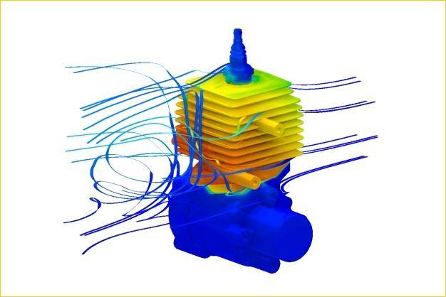 ANSYS - Сопряженный расчет охлаждения одноцилиндрового двигателя