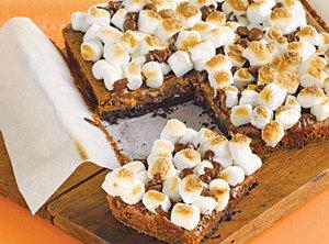 Fudgy Marshmallow Bars Recipe