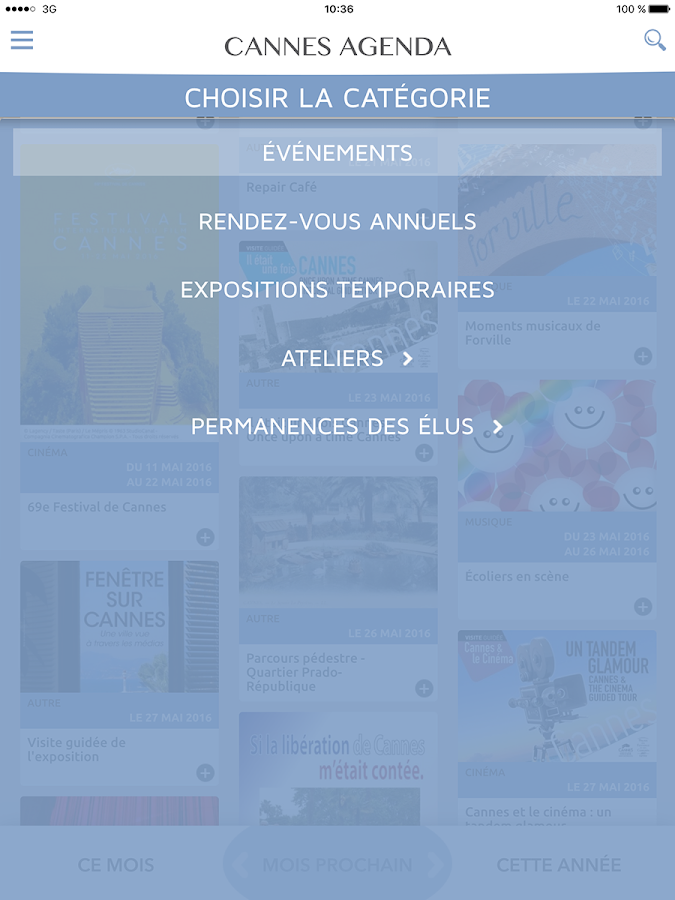 Cannes Agenda- screenshot