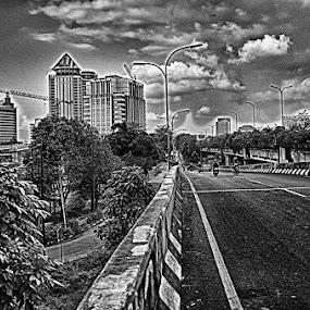 Way back home by Tigor Lubis - Black & White Street & Candid