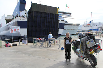 Photo: Preparing to board our boat, the Sorrento to Tunis and North Africa.