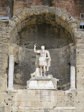Photo: The theater was built early in the 1st century CE during Augustus' reign, and this 11 foot statue of him (returned to this location in 1951) is prominently displayed.